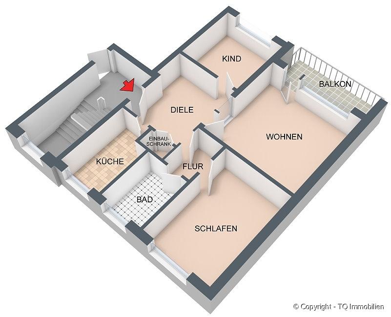 wohnung 1 og tq immobilien. Black Bedroom Furniture Sets. Home Design Ideas